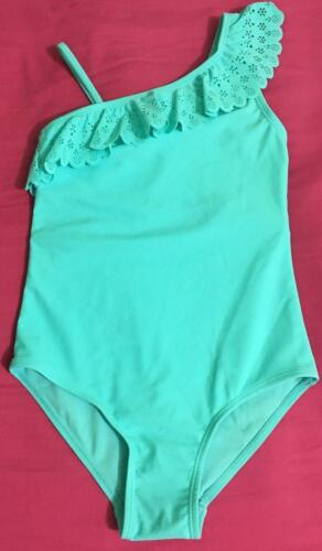 Primark Girls Frilled Shoulder Mint Swimsuit Swimwear All in One Bathing suit