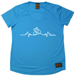 Ladies-Cycling-Pulse-Mountain-Bike-atee-T-SHIRT-DRY-FIT-V-NECK-T-SHIRT