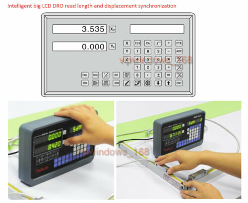 2//3 Axis Digital Readout TTL Linear Glass Scale DRO Encoder for Milling Lathe