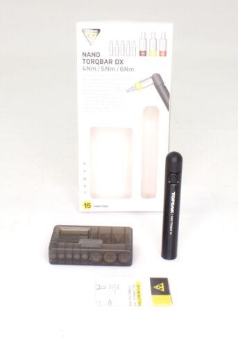 TT2570 5Nm Topeak Bike Nano TorqBar DX 4Nm torq bits 6Nm w//5 tool bits