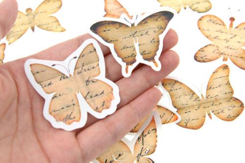 12 pieces ephemera butterfly waterproof Stickers Pack for junk bullet journal