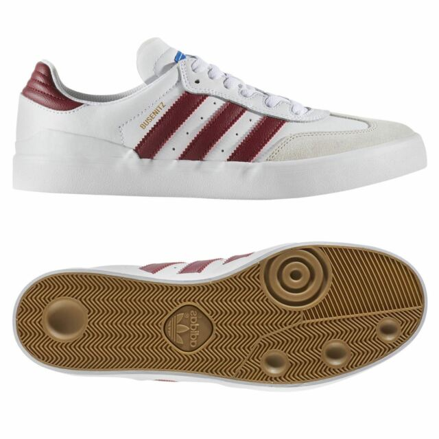 5c1f26d11 adidas ORIGINALS MEN S BUSENITZ RX SKATE TRAINERS SHOES WHITE RED RETRO NEW  BNWT