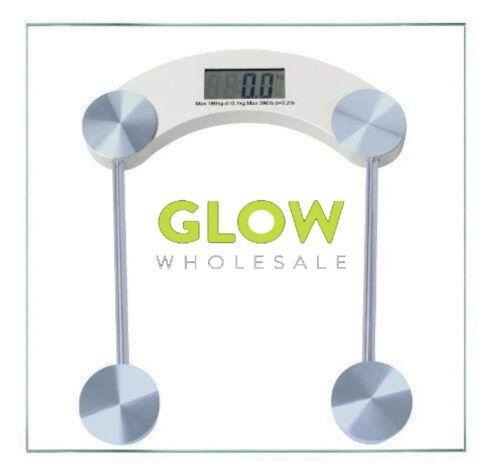 DIGITAL GLASS BATHROOM SCALES SLIM ACCURATE LCD MODERN BODY WEIGHT MEASUREMENT
