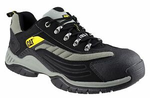 Trainers Safety Shoes Caterpillar Cat Moor Steel Cap Mens Toe Black xEwz8wq