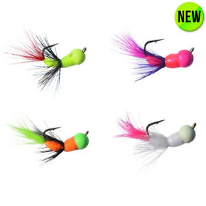 Details about Ice Fishing Jigs 4 PACK - AKUA JIG TUNGSTEN SERIES FLARE