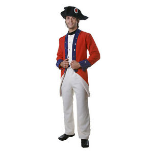 Adult Colonial Soldier Costume By Dress Up America
