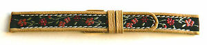 14mm-FLEURUS-FLORAL-MOTIF-ON-TAN-CALFSKIN-LEATHER-WATCH-BAND-STRAP-SMALL