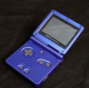 DARK-BLUE-GAMEBOY-ADVANCE-SP-PORTABLE-CONSOLE-JAPANESE-MADE-IN-JAPAN
