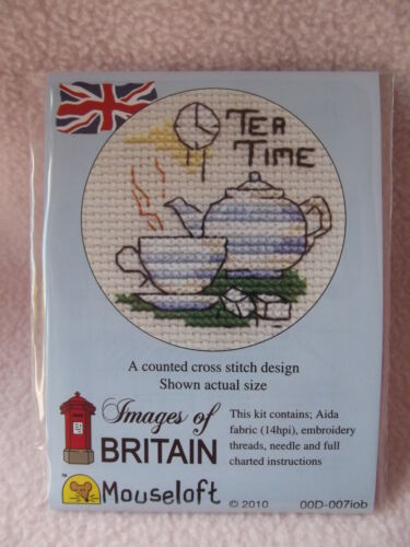 MOUSELOFT STITCHLETS CROSS STITCH KIT ~  IMAGES of BRITAIN ~ TEA TIME