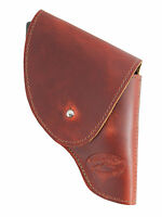 Barsony Burgundy Leather Flap Holster Snub Nose 2 22 38 357 41 44 Revolvers