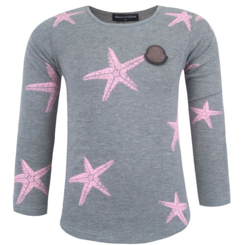 Squared /& Cubed Seestern Langarmshirt Shirt Longsleave Langarm Baumwolle Grau