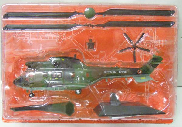 """Aerospatile As-332 """" Super Puma """", Modèle Déjà Assemblé, Atlas , 1:72, Métal"""