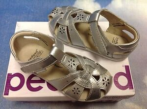 Pediped Angelle Girls Kids Flex Memory Foam Footbed Shoes Suede Sandals 11 12.5