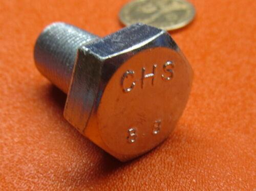 M16 x 1.5 x 30 mm Length 5 Pcs 8.8 Zinc Plated Metric Tap Bolt FT