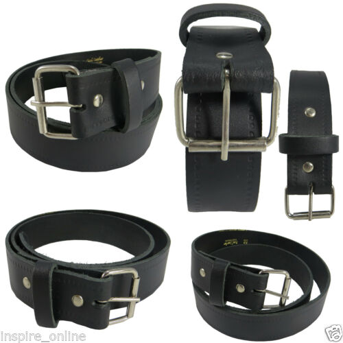 MENS LEATHER BELTS  REAL GENUINE BUCKLE FOR JEANS TROUSER WAIST BELT CASUAL SIZE