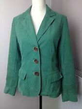 boden green corded womens fitted jacket 100% cotton uk 14