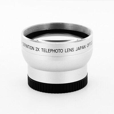 TELEPHOTO LENS KIT FOR HD CANON CAMCORDER HV10 HF100 HFM30 HFM31 HFM300 WIDE