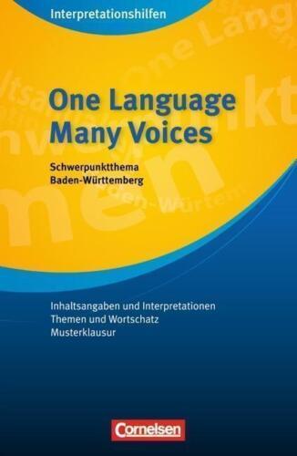 1 von 1 - Englisch Literatur One Language, Many Voices Short Stories Interpretation