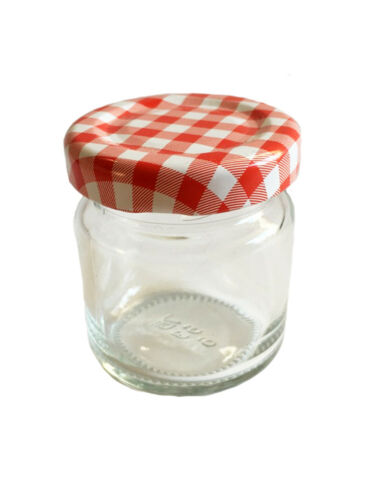 24 mini chute verres 53 ML pots de confiture bocaux einweckgläser rouge Karri