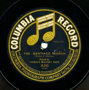 PRINCE's Military Band on 1908 Columbia A20 - The Santiago March