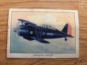 Rare-WWII-Canadian-Fighter-Number-50-from-Wings-Cigarettes
