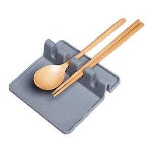 Kitchen-Utensil-Silicone-Spoon-Rest-Soup-Spoon-Holder-Shelf-Non-slip-sale