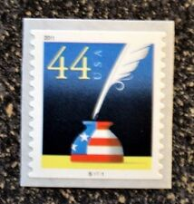 2011USA #4496 44c Patriotic Quill & Inkwell - PNC Plate Number Coil Single Mint