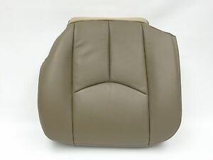 2003 2006 chevy avalanche silverado seat cover leather driver medium neutral tan ebay. Black Bedroom Furniture Sets. Home Design Ideas