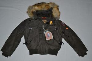 AUTHENTIC-PARAJUMPERS-GOBI-ECO-BOYS-HOODED-BOMBER-BUSH-SIZE-4-KIDS-BRAND-NEW