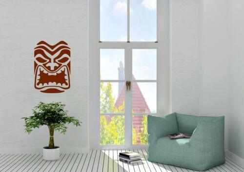 Tiki cara Hawai diseño inspirado Coche Hogar Pared Arte Calcomanía Vinilo Sticker