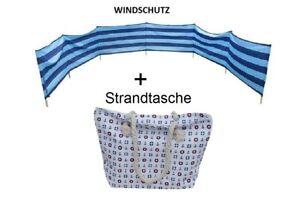 Windschutz-Sichtschutz-fur-Strand-Garten-See-Meer-8M-plus-XXL-Strandtasche
