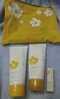 Mary Kay Pineapple 3 Piece Gift Set Body Lotion Sugar Scrub Cologne Wand Bag