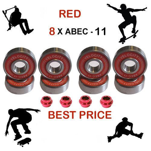 Abec 11 11 Abec pro roue roulement entretoises Skateboard Scooter Quad inline roller skate 9 b09d20