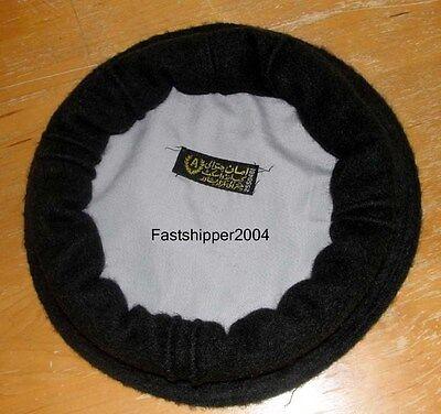 Afghan Pakol HAT BERET Afghanistan Tribal Winter Warm Top Pakul Army Black Hat