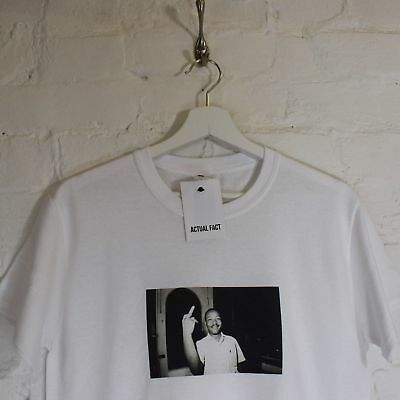 """Martin Luther King /""""Profanity/"""" White Tee T-shirt by Actual Fact"""