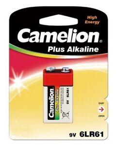 Détails sur DESTOCKAGE 12 piles Alcalines Camelion 9V 6LF22 6LR61 Capacité 700mah 062020