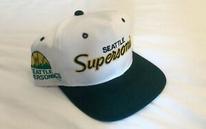 Vintage-Seattle-Supersonics-Sonics-Sports-Specialties-Script-White-Snapback-Hat