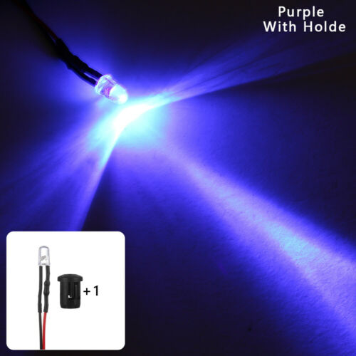 Holder 20cm Cable 12V multi-color Pre-Wired Emitting Diode 5mm LED Light