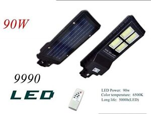 Luce Per Esterno Con Pannello Solare.Lampione Stradale 90w A 4 Luci Con Pannello Solare