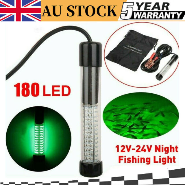 Fish Attraction Underwater Light Fishing Lamp LED Portable Battery Operated Bait