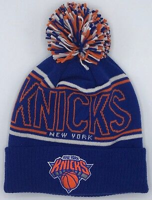 Methodical Nba New York Knicks Adidas Cuffed Pom Winter Knit Cap Hat Beanie Style #kt23z Crazy Price Basketball