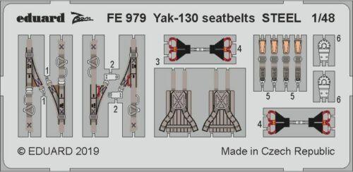 Eduard Zoom FE979 1//48 Yakovlev Yak-130 seatbelts STEEL Zvezda