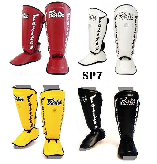 FAIRTEX TWISTED SHIN GUARDS PAD  SP7 PredECTOR MUAY THAI BOXING MMA TRAINING  discount promotions