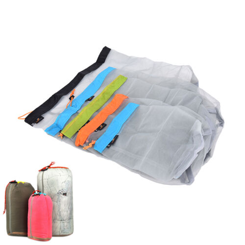 Ultralight Clothes Shoes Mesh Stuff Sack Storage Drawstring Bag Tavel Camping VH