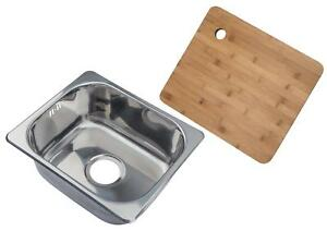 Single Bowl Stainless Steel Compact Inset Kitchen Sink & Chopping ...