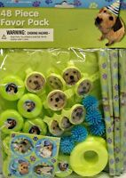 Puppy Party Favor Pack 48pc Pet Dog Birthday Party Supplies Loot Goody Treat