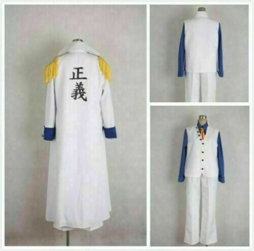 Custom-made One piece Aokiji Kuzan Navy Admiral Uniform Cosplay Costume /&YT