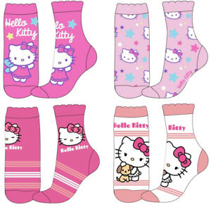 21e36c165 Image is loading Girls-Hello-Kitty-Socks-Pack-of-4