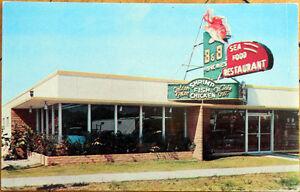 Image Is Loading 1957 Chrome Postcard B Amp Fisheries Seafood
