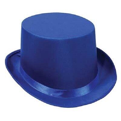 20's Deluxe Blue Satin Sleek Silk Formal Magic Tuxedo Top Hat Costume Accessory